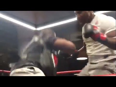 Download Youtube: MMA Breakout Star Francis Ngannou DROPS His Coach with Leg Kick During UFC 220 Open Workout