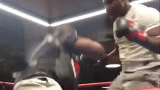 MMA Breakout Star Francis Ngannou DROPS His Coach with Leg Kick During UFC 220 Open Workout