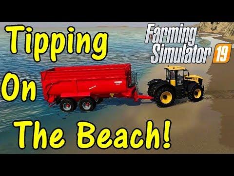 FS19 Garage Tour #10: Tipping On The Beach!