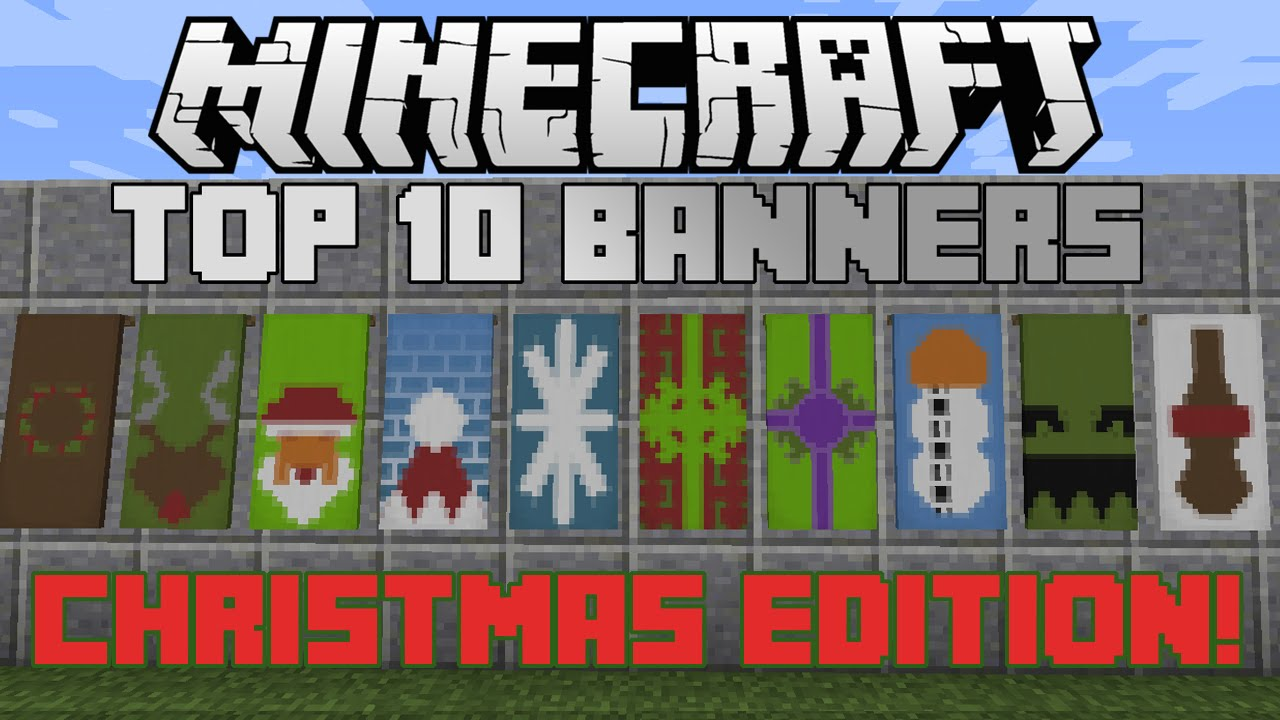 Minecraft top 10 Christmas banner designs! With tutorial