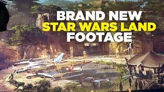 New Star Wars Land footage - Disney's Awaken Summer Media Event