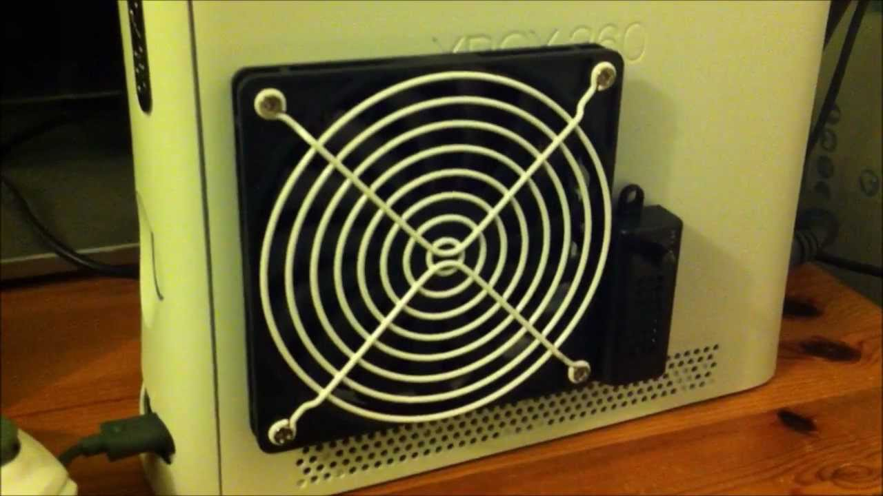 xbox 360 12v fan mod - youtube