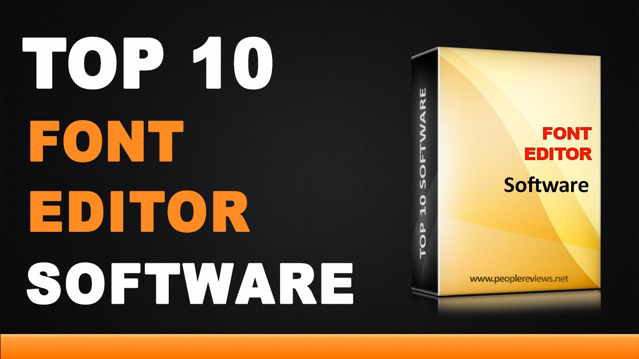 Best Font Editor Software - Top 10 List - YouTube