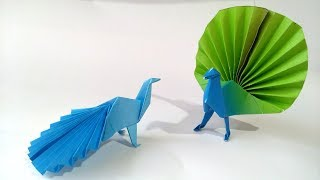 Origami Pavo Real de papel - How to make a paper Peacock