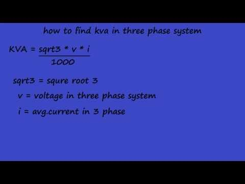 different between  kw and kva - electrical formulas and animation