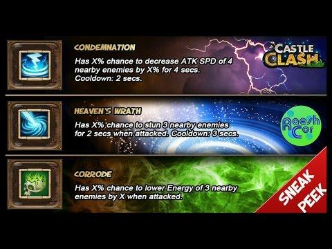 Castle Clash | Update: Talents ; Condemnation, Heavens Wrath, Corrode ಠ Schloss Konflikt [Deutsch]