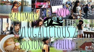 OOTW, New York City, Boston, Philly, & Baltimore! VLOGALICIOUS 2➶