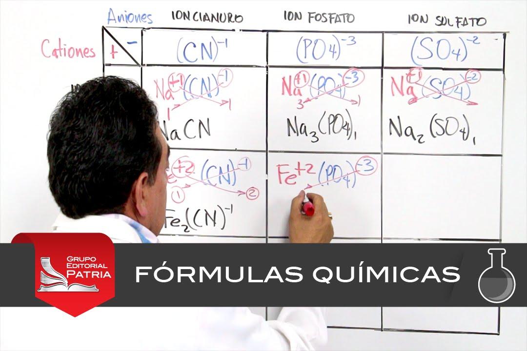 escritura de frmulas qumicas con tabla qumica