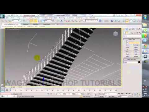 STAIRS script 3d max by wageh workshop tutorials