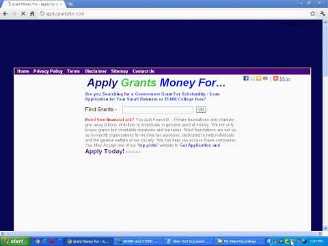 Apply for Grant Application