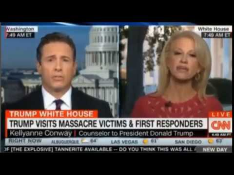 CNN Chris Cuomo vs Kellyanne Conway sparks fly as they lock horns over Gun Control and collusion