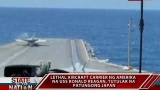 Lethal aircraft carrier ng Amerika na USS Ronald Reagan, tutulak na patungong Japan