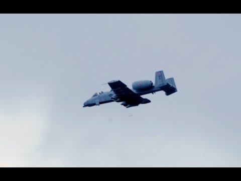 A-10 Thunderbolt II Strafing Run with GAU-8/A Avenger Cannon