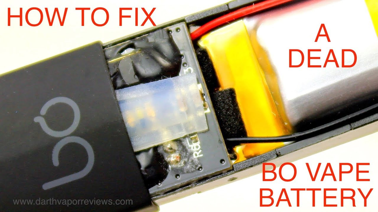 How To Fix a Dead BO Vape or JUUL Battery