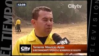 Balance de incendios en enero en lo cerros de Bogotá   CityTv   CityNoticias 12  Febrero 2
