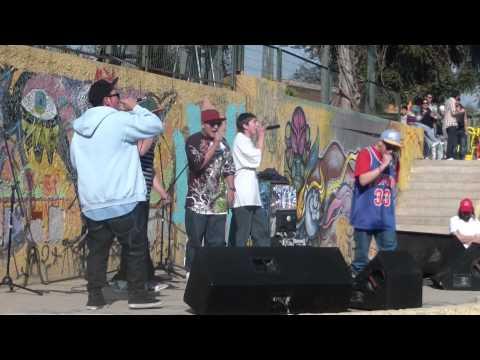 Tokata Santiago en un Solo Barrio. Craneos de Rap.