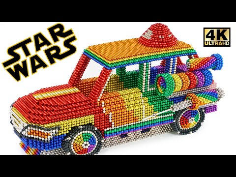 Most Creative - How To Make Star Wars Suv Car From Magnetic Balls (Satisfying) | Magnet World Series