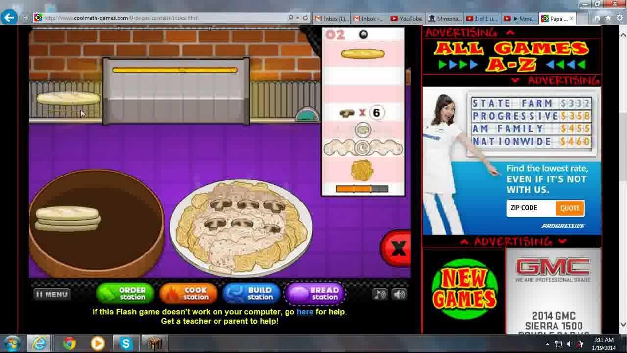 Papa\'s Pastaria Coolmath4kids Game #1 - YouTube