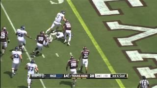 08/31/2013 Rice Vs Texas A&m Football Highlights