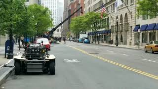 Filming of a stunt from Ryan Reynolds new movie Free Guy