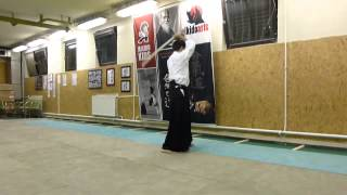 kirikaeshi shiho 4 directions (4 irány)- sword- boken[TUTORIAL] Aikido basic weapon technique 合気剣