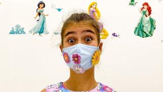 Nastya cose hermosas máscaras para amigos | Настя шьёт красивые маски для друзей