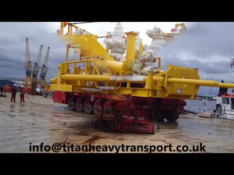 Titan SPMT Moving SubSea Structures