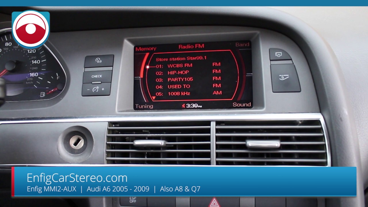 Aux Install Audi A6 05 09 Mmi2 Also For A8 Amp Q7 Youtube