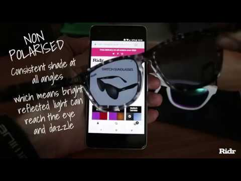 0040d0dc97 Ridr Switch Polarised Lens Test - YouTube