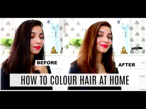 How I Coloured My Hair Brown At Home L Oreal Paris Excellence Creme Honest Review Tanu Gupta Youtube