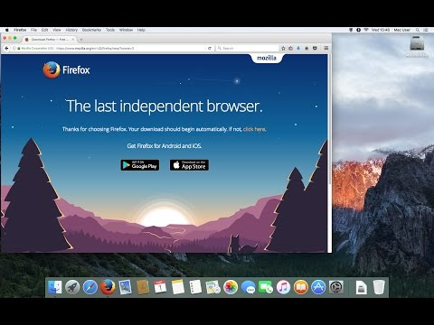 how to install Mozilla Firefox Free web browser on a mac