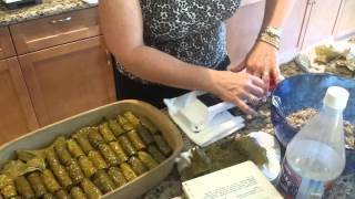 Using a Dolmades Machine - How to make Greek Dolmades or Dolmas