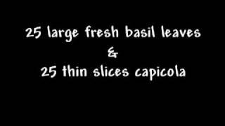 Capicola Canapes Recipe