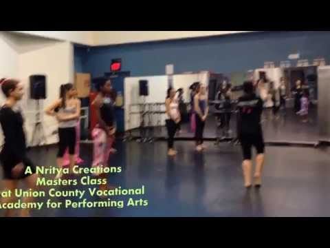 Nritya Creations teaches Masters Classes at Union County Vocational Performing Arts Academy