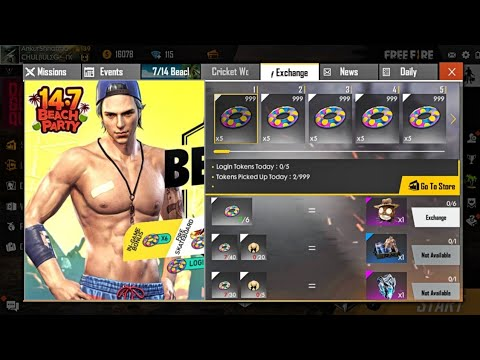 How To Collect Swimming Ring & Straw Hat in Free Fire? || Beach Boy Exchange New Event Full Details