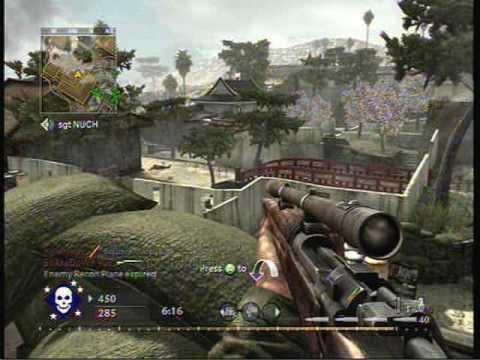 call of duty 5 multiplayer (17 kill streak) - YouTube