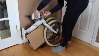 Retrospec Speck Folding Single-Speed Bicycle Unboxing