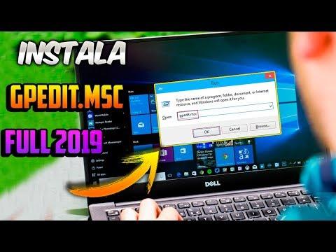 Cómo Instalar Gpedit.msc En Cualquier VERSION DE WINDOWS 10   METODO 2019