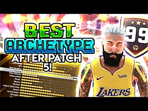 NBA 2K18 BEST NEW ARCHETYPE AFTER PATCH 5! (GREEN RELEASES! ANKLE BREAKERS!) UNSTOPPABLE!