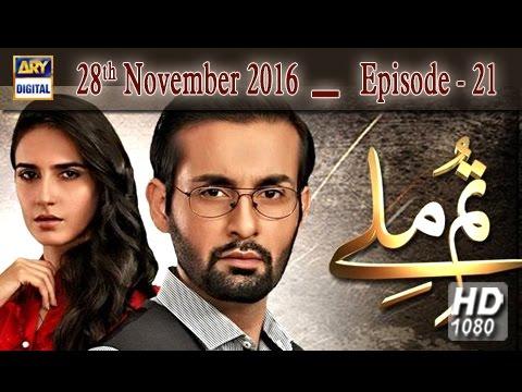 Tum Milay Ep 21 - 28th November 2016 - ARY Digital Drama