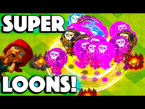 NEW AND IMPROVED SUPER BALLOONS! - Clash of Clans - MAXED OUT!
