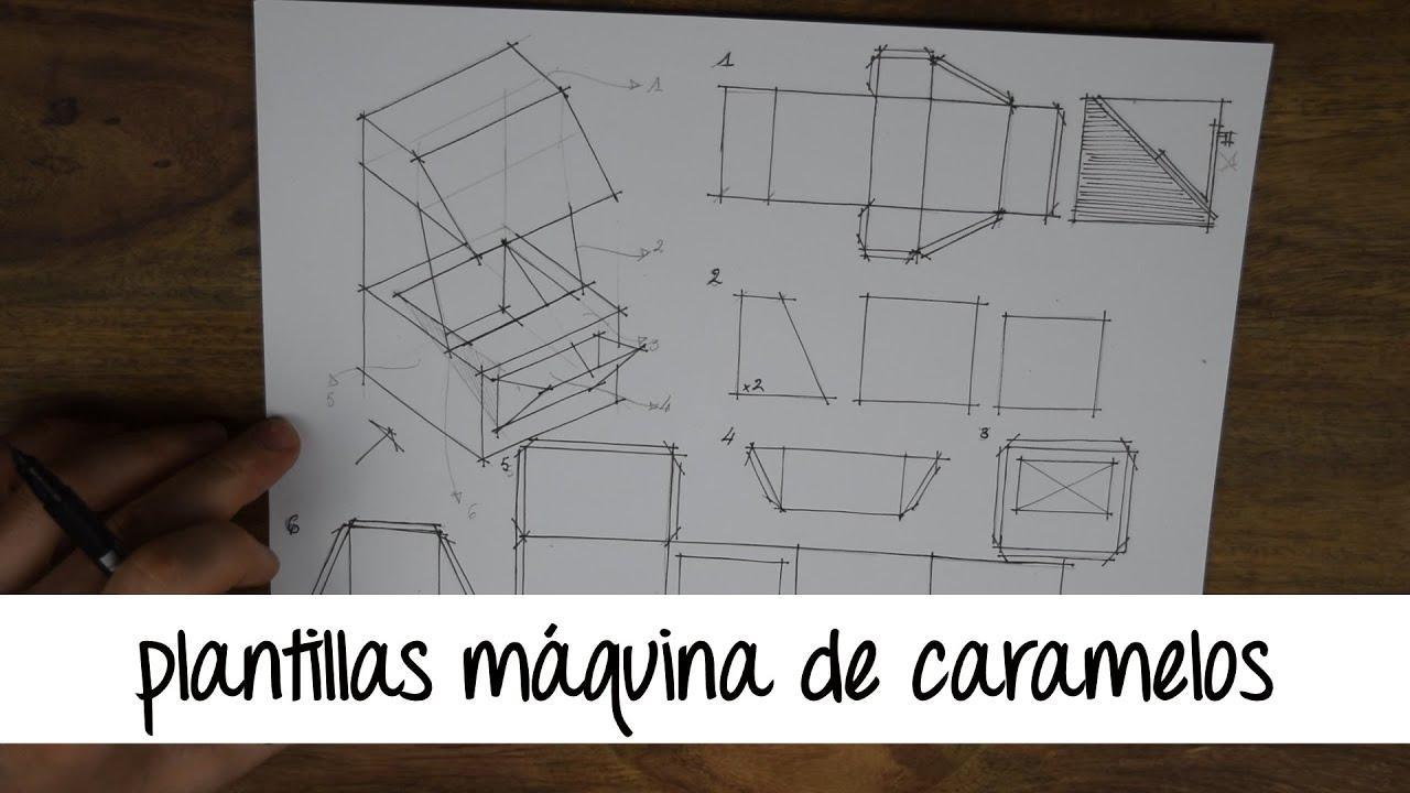 DIBUJANDO LAS PLANTILLAS DE | UNA MAQUINA DE CARAMELOS - YouTube