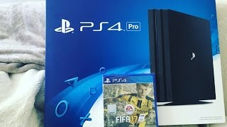 Playstation 4 PRO UNBOXING + FIFA 17