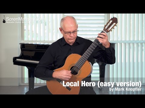 Local Hero - Going Home (easy version) by Mark Knopfler - Danish Guitar Performance - Soren Madsen