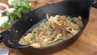 Morel Mushroom Recipe - Butter/Onions/Basil/Pernod
