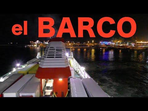 """【full-hd】el-barco-""""trasmediterranea""""-por-la-noche-r¡i¡-/-españa"""