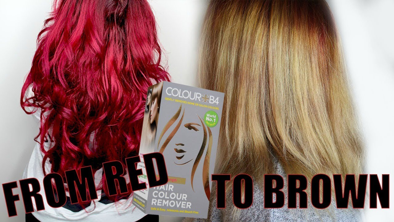 From Red To Blonde With Hair Color Remover Color B4 Youtube