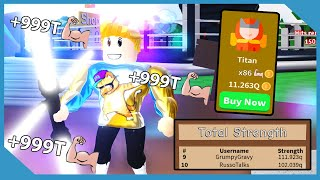 Becoming Max Rank Titan And Got On Top Strength Leaderboard! | Roblox Saber Simulator With My Nephew
