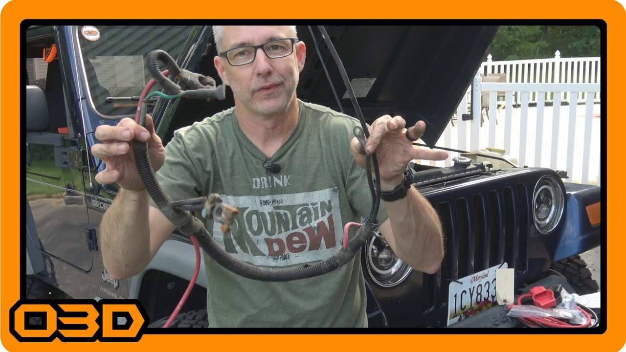 battery cable upgrade and replacement from custombatterycables com for project 2004 wrangler tj [ 1280 x 720 Pixel ]