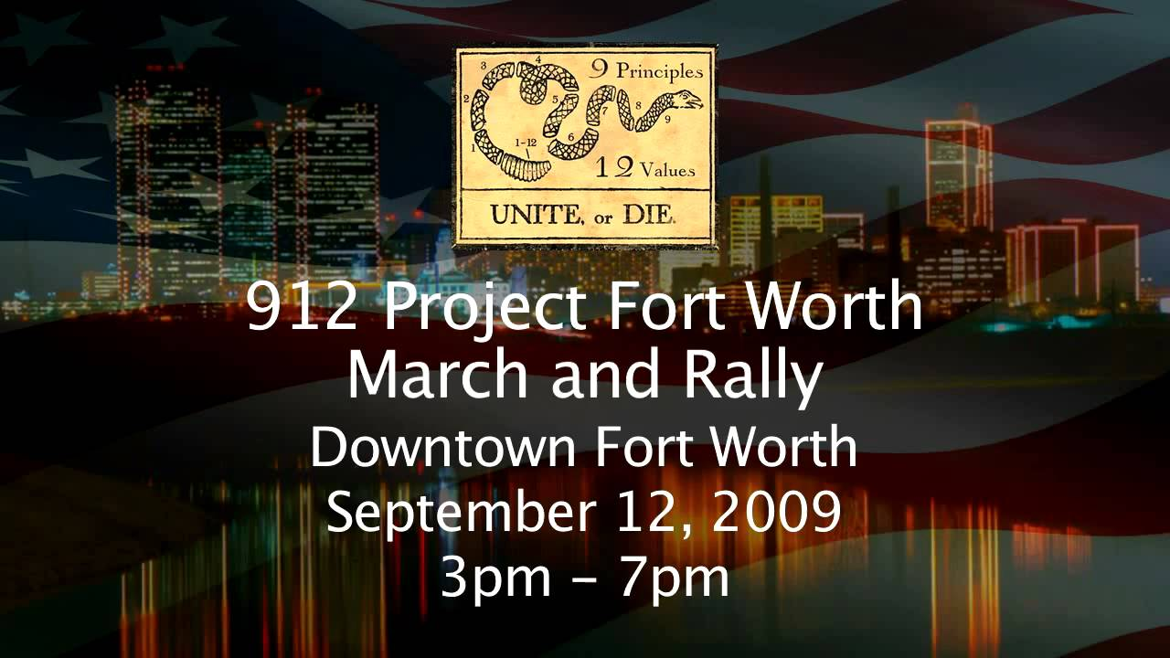 912 project fort worth september 12 2009 march and rally youtube